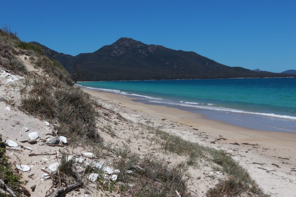 Hazards beach Wineglass bay Australië