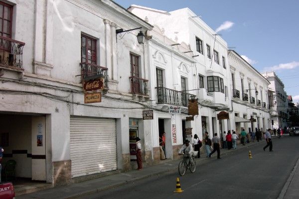 Straatje in Sucre Bolivia