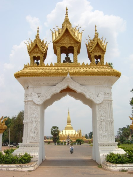 Pha That Luang Vientianne in Laos