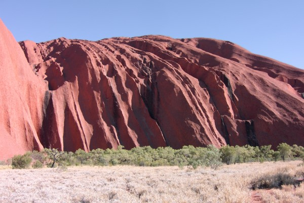 Ayers Rock in de middagzon